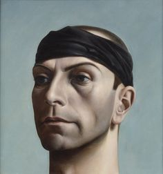 Self Portrait with Headband by Pyke Koch (Dutch 1901-1991)