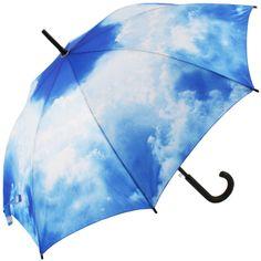 Summer Sky Art Print Walking Length Umbrella - Brolliesgalore
