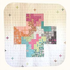 beautiful Plus quilt from cupcakesndasies.com using the Flow fabric line by Zen Chic for Moda
