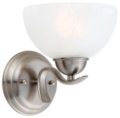 Buy the Design House 512517 Satin Nickel Direct. Shop for the Design House 512517 Satin Nickel Trevie 1 Light Up / Down Lighting Wall Sconce with Alabaster Glass and save. Bathroom Vanity Lighting, Wall Sconce Lighting, Traditional Wall Sconces, Incandescent Bulbs, Cool Walls, Glass Shades, Light Up, Wall Mount, Wall Lights