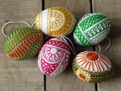 Embroidery Yarn Pasted Easter Eggs