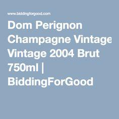 Dom Perignon Champagne Vintage 2004 Brut 750ml | BiddingForGood