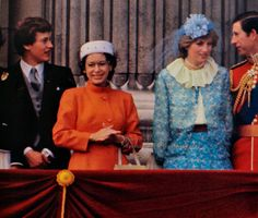 June 13, 1981:  Prince Charles & his fiancé, Lady Diana Spencer with the Royal family on the balcony of Buckingham Palace watching Trooping the Colour ceremony.