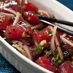 Poke from Hawaii: Tuna Tartare with an Asian twist!