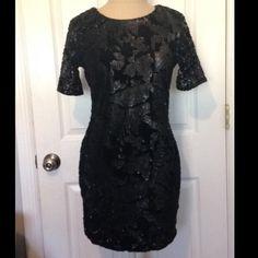 TOPSHOP sequin/velvet mini dress Never worn TopShop BLACK sequin/velvet mini dress! So cute NWT Topshop Dresses Mini
