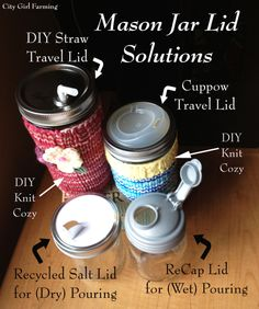Mason Jar Lid Solutions | City Girl Farming! Very good site.