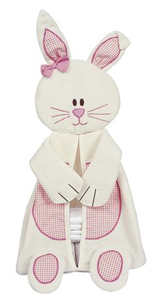 Bunny nappy stacker for the baby changing area
