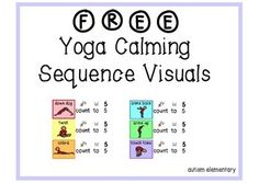 FREE Yoga Calming Visuals for Early Childhood or Special E