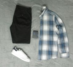 Shirt from H&M Chinos from zara man Adidas Stan Smith
