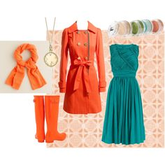 """""""Orange/Turquoise - Spring"""" by goldkehlchen on Polyvore"""