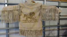 A most excellent suede-leather Vaquero / Aztec motif jacket - circa 1990's by CurvyGirlRanch on Etsy