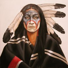 for the feathers Native American Makeup, Native American Paintings, Native American Images, Native American Artists, American Indian Art, Indian Paintings, American Indians, Native Indian, Native Art