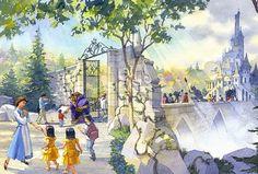 東京ディズニーランド ファンタジーランド 『美女と野獣』をテーマとしたエリア