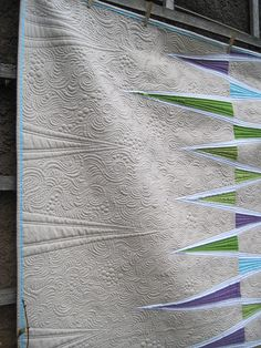 """Opposing Triangles"" by Katie Pedersen, quilted by Krista Withers"