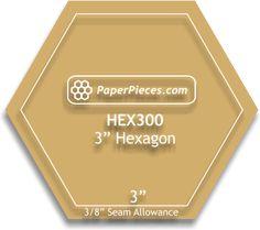 3 inch Hexagon Acrylic Template