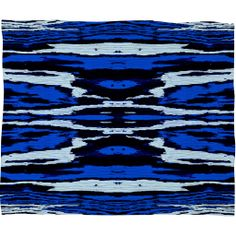 Caleb Troy Royal Coal Splinters Fleece Throw Blanket | DENY Designs Home Accessories
