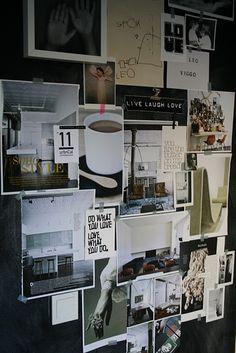 """mood board"" or vision board. i like the creativity Framed Art Inspiration, Inspiration Boards, Room Inspiration, Design Inspiration, Washi Tape Wall, Masking Tape, Diy Foto, Interior Decorating, Interior Design"