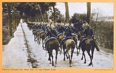 WWI; French Cavalry on their way to the Front - Yooniq