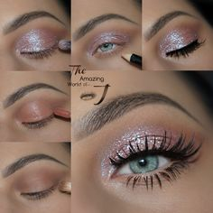 """Get the Look with Motives®: """"Starshine"""" Makeup Tutorial Starshine Glitter Makeup Tutorial with Motives Cosmetics Makeup Eye Looks, Eye Makeup Tips, Smokey Eye Makeup, Cute Makeup, Gorgeous Makeup, Skin Makeup, Eyeshadow Makeup, Makeup Ideas, Motives Makeup"""