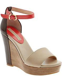 Vanessa wedge sandal // Banana Republic