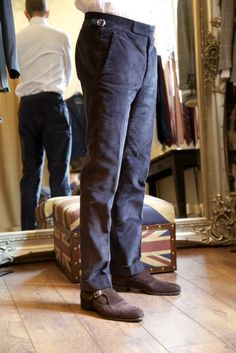 Thom Sweeney's finest bespoke casual wear. I need to get me some of these.