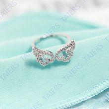 Бесплатная доставка 925 - серебристо-ювелирные открытие кольцо крыла регулируемая гипоаллергенный кольцо бесплатная доставка никель - никель-бесплатных TAIERS(China (Mainland))