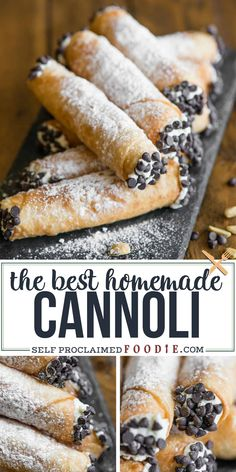 Cannolis are one of my favorite Italian dessert recipes! My homemade cannolis start with a scratch made shell filled with the best creamy filling! #cannoli #recipe #filling #shells #italian #cream Oreo Dessert, Diy Dessert, Coconut Dessert, Quick Dessert Recipes, Dessert Dips, Baking Recipes, Cannoli Dessert, Vegan Recipes, Recipes Dinner