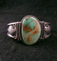 Harry Morgan ~ Navajo ~ Turquoise Old Pawn Style Sterling Silver Bracelet