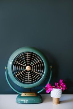 How to Add a Pop of Color for Less Than $100: Colorful Tabletop Fan >> http://www.diynetwork.com/made-and-remade/learn-it/ways-to-add-a-pop-of-color-for-under--100?soc=pinterest