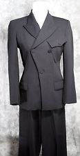 ESTATE  VINTAGE JEAN PAUL GAULTIER PARIS 2PC LADIES TUXEDO WOOL GABERDINE SIZE 4