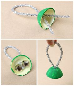 Egg Carton Bells Christmas Craft for Kids -- make not red and green for anytime