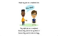 This app helps kids understand how to give compliments and why we give them. It also discusses how to react to a compliment when it is given. Speech Tool for Preschool, Autism, Aspergers, Down Syndrome, and Special Needs. #autismapps #yourock! #touchautism