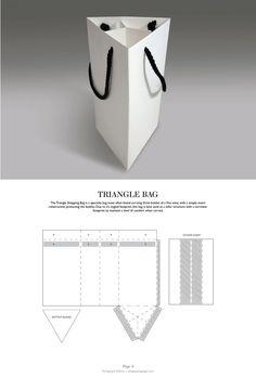 Triangle Bag - Packaging & Dielines: The Designer's Book of Packaging Dielines