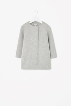 Padded jersey coat