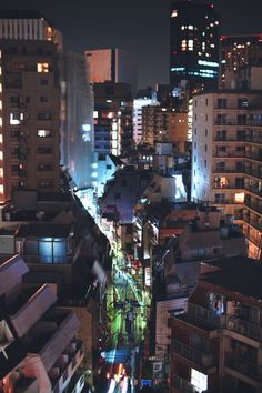 Tokyo Rooftop by Hello Tello Aesthetic Japan, Night Aesthetic, City Aesthetic, City Landscape, Urban Landscape, City From Above, Japan Street, Cities, Tokyo Streets
