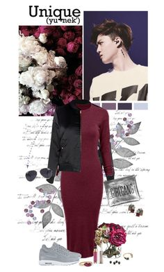 """""""Suho"""" by auby ❤ liked on Polyvore featuring Glamorous, Noir Jewelry, NIKE, Urban Decay, NLY Accessories, Sarah Baily, Kenneth Cole and Delfina Delettrez"""