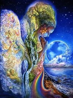 What is Gaia? The word Gaia comes from Ancient Greek which means land or earth. Gaia is the mother of all gods. Josephine Wall, Earth Goddess, Goddess Art, Moon Goddess, Art Expo, Art Visionnaire, Fantasy Kunst, Mother Goddess, Heroes Of Olympus