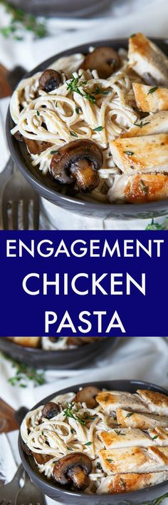 Engagement chicken pasta. Get a ring fast with this decadent (yet easy!) engagement chicken recipe!