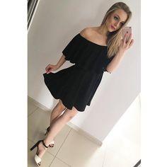 Off Shoulder Pure Color Short Sleeves Sexy Short Dress