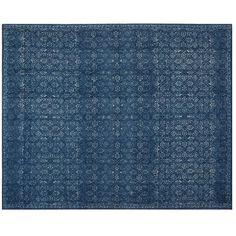 Pottery Barn Kala Printed Rug ($1,079) ❤ liked on Polyvore featuring home, rugs, pottery barn rug pad, pottery barn rugs, patterned rugs, hand woven rugs and pile rug
