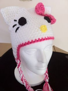 free crochet pattern for hello kitty earflap hat Only the beginning: ♥ Hello Kitty ♥