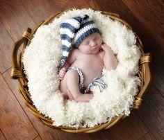 Long Braided Tail Striped Crochet Hat Pattern (436). $4.00, via Etsy.