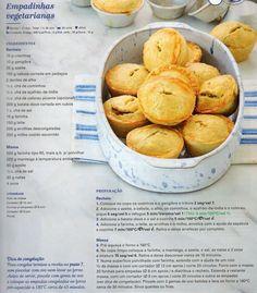 Empadinhas Vegetarianas veggie Happy Foods, Secret Recipe, Pretzel Bites, Nom Nom, Vegan Recipes, Goodies, Food And Drink, Easy Meals, Veggies