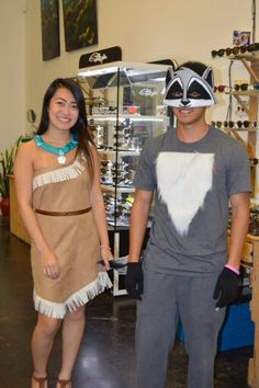 My first attempt at making costumes last Halloween. My little brother is such a good  sc 1 st  Pinterest & Pocahontas-Inspired Thanksgiving Meal and Party Ideas | Halloween ...