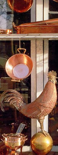 Leaving room in my suitcase for some copper cookware...so beautiful!