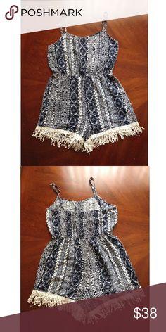 "Romper Dress Dress length 22"". Chest width 15"". 100% Rayon. Adjustable straps. Breeze ever Dresses Mini"