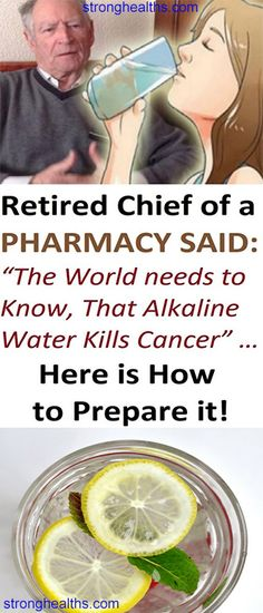 Alkaline water has the ability to kill cancer! Who would think that this is true? Numerous illnesses and diseases need treatment, so doctors always offer medicines which increase the flow of money … Natural Cancer Cures, Natural Cures, Natural Healing, Alkaline Diet Recipes, Good Health Tips, Healthy Tips, Healthy Drinks, Cancer Fighting Foods, Lose 15 Pounds