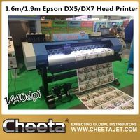1.9m size dx5 head and dx7 head eco solvent printer