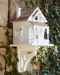 """Honeymoon Cottage"" Birdhouse at Horchow."