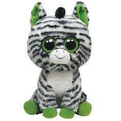 Superschattig is deze zachte zwart/witte 'Zigzag' zebra Beanie Boo | Olliewood
